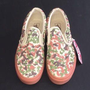 Vans Classic Camo Slip On Shoes